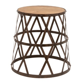 Vintage Inspired Metal and Wood Stool