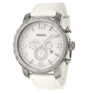Fossil Men's 'Nate' Stainless Steel Chronograph Military Time Watch