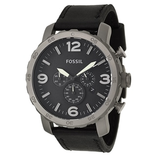 Fossil Men's 'Nate' Titanium Chronograph Military Time Watch