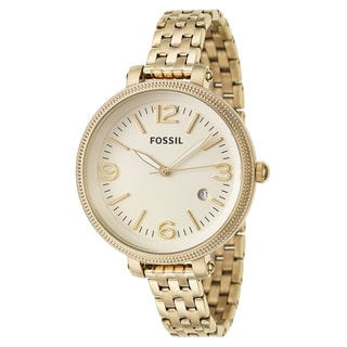Fossil Women's 'Heather' Yellow Gold-Plated Stainless Steel Quartz Watch