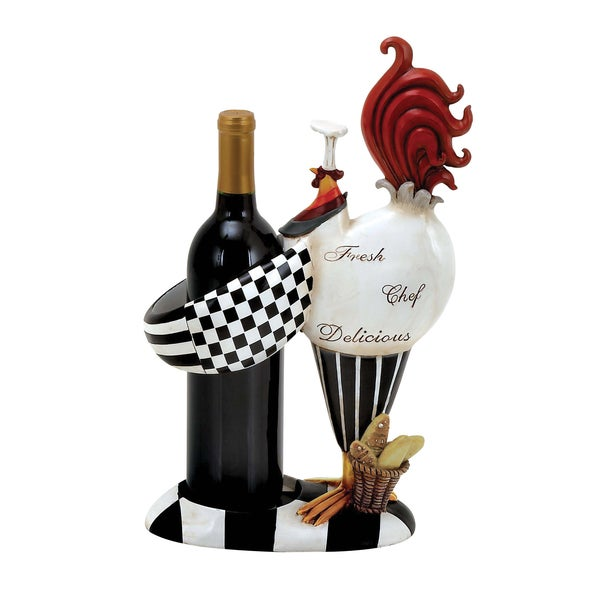 Rooster Chef Wine Bottle Holder Overstock Shopping Great Deals On