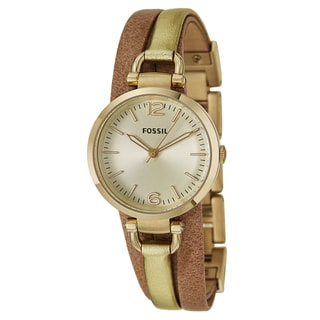 Fossil Women's 'Georgia' Yellow Gold-Plated Stainless Steel Japanese Quartz Watch