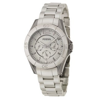 Fossil Women's 'Riley' Stainless Steel Ceramic Military Time Watch