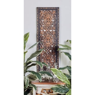 2-piece Elegant Wall Sculpture Wood Wall Panel