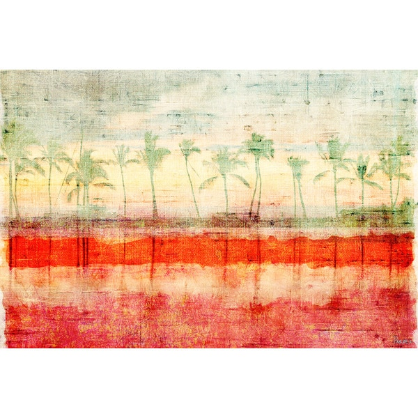 Parvez Taj 'Palm Beach' Canvas Print