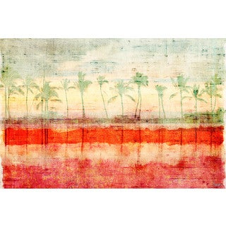 Parvez Taj 'Palm Beach' Canvas Print