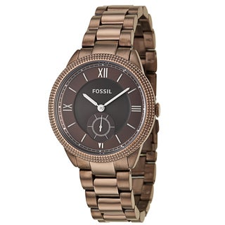 Fossil Women's 'Sydney' Brown Stainless Steel Quartz Watch