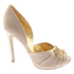 Women's Nine West Adorette Taupe Satin Luxe