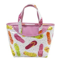 Picnic at Ascot Beach Day Small Insulated Tote White Flip