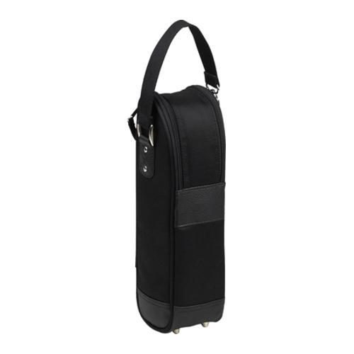 Picnic at Ascot New York Single Wine Tote Two Tone Black