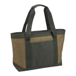 Picnic at Ascot Small Eco Cooler Tote Natural/Forest Green