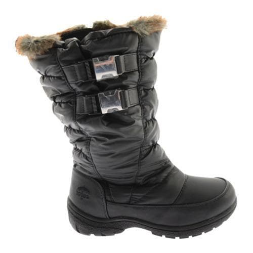 NEW Women's TOTES RIKKI Black Winter/Rain Faux Fur Insulated Waterproof Boots