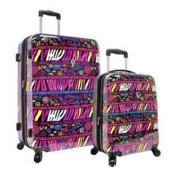 Traveler's Choice Bohemian 2-Piece Hardside Expandable Luggage Set