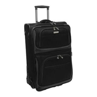 Traveler's Choice Black Conventional II 22-inch Carry On Rolling Upright