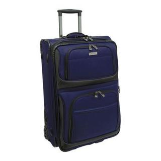 Traveler's Choice Navy Conventional II 22-inch Rugged Carry On Rolling Suitcase