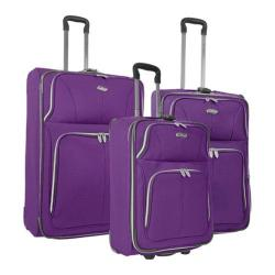 US Traveler Purple Segovia 3-piece Expandable Luggage Set