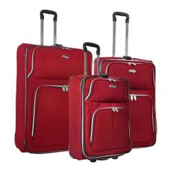 US Traveler Red Segovia 3-piece Expandable Luggage Set