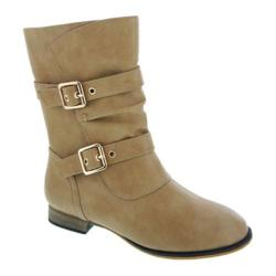 Women's Wild Diva Kaja-1 Beige Faux Leather