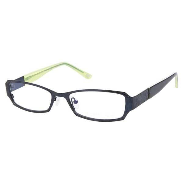 Carmen Marc Valvo Anisa Navy Lime Prescription Eyeglasses