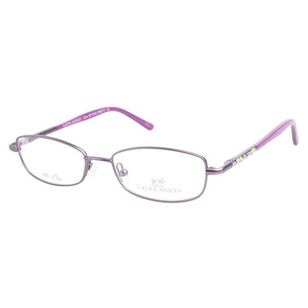 Laura Ashley Girls Sitting Pretty Grape Prescription Eyeglasses