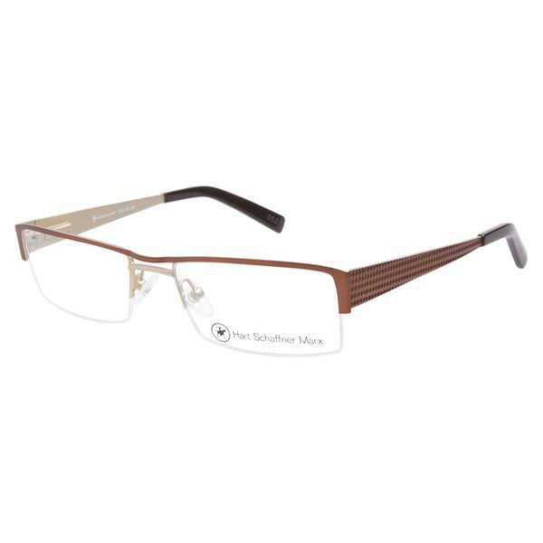 Hart Schaffner Marx HSM828 Matte Brown Prescription Eyeglasses