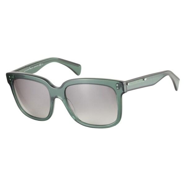 Alexander McQueen AMQ4213S SS6 VK Black Green 55 Sunglasses