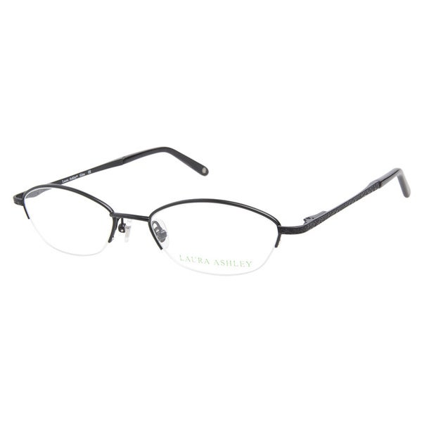 Laura Ashley Gina Satin Black Prescription Eyeglasses