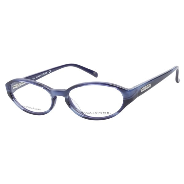 Banana Republic Ana FM6 Striated Blue Prescription Eyeglasses