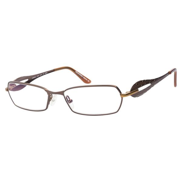 Koali KO6723K MM 152 Medium Brown Prescription Eyeglasses