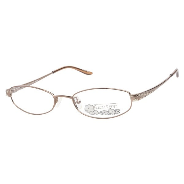 Karen Kane Hibiscus Soft Brown Prescription Eyeglasses