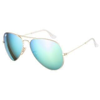 Ray-Ban RB3025 112 19 Aviator Gold Blue Mirror 58 Sunglasses