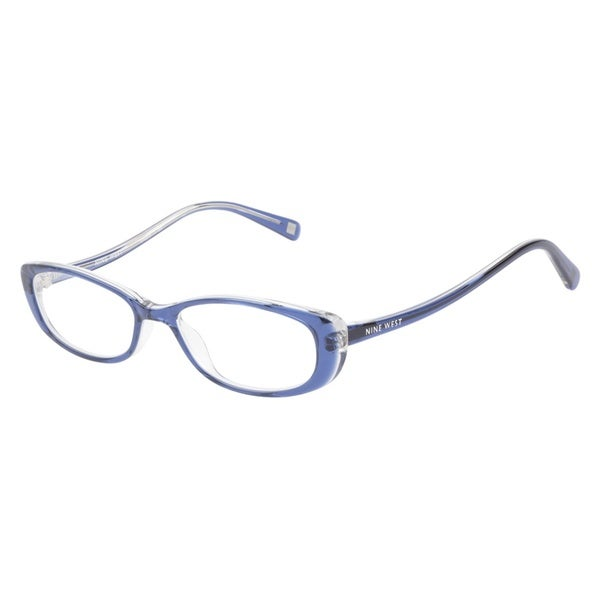 Nine West NW5019 414 Navy Crystal Prescription Eyeglasses