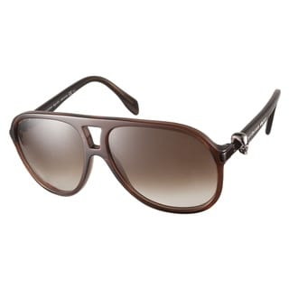 Alexander McQueen AMQ4179S WD4 02 Brown Sunglasses