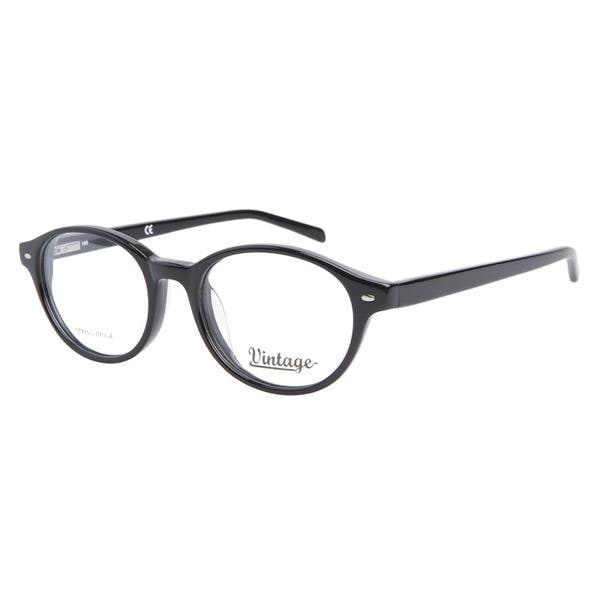 Vintage VN0105 001 Shiny Black Prescription Eyeglasses