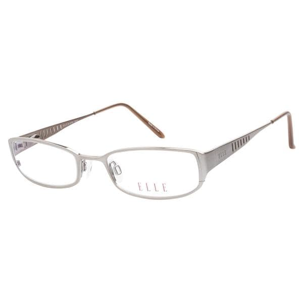 Elle 18763 Light Brown Prescription Eyeglasses