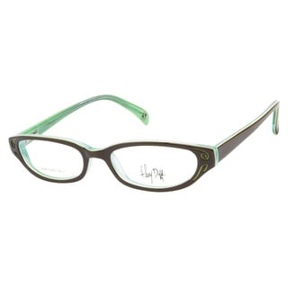 Hilary Duff Vintage 041 Brown With Teal Prescription Eyeglasses