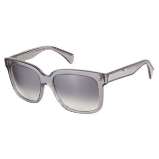 Alexander McQueen AMQ4213S SS1 JJ Black Grey Transparent 55 Sunglasses