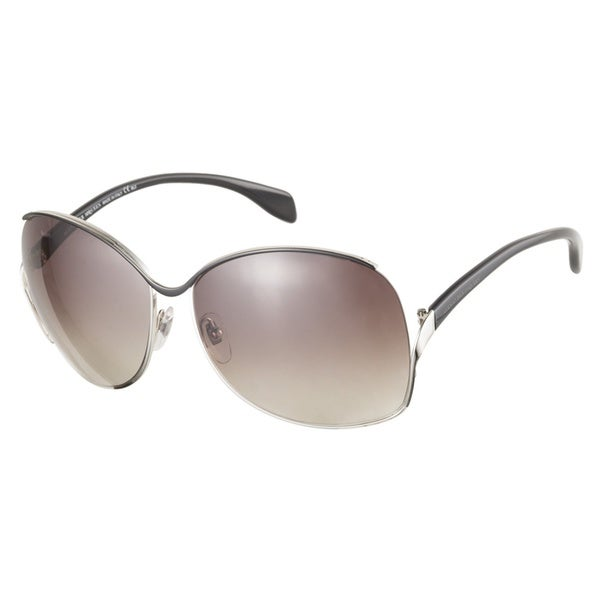 Alexander McQueen AMQ4172S QR7 CC Black Palladium Black 62 Sunglasses