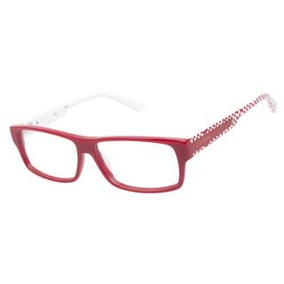 Ltede 1096 Red Checker Prescription Eyeglasses