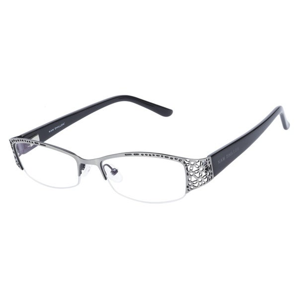 Kam Dhillon 3047 Silver Black Prescription Eyeglasses