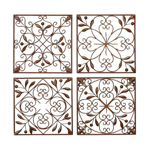 Square Metal Wall Decor (Set of 4) 12194508