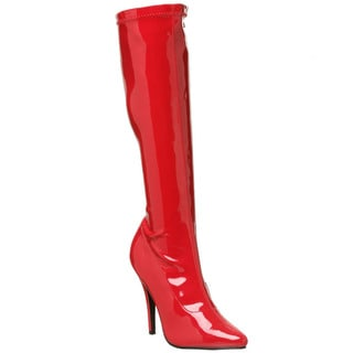 Pleaser Women's' 'Seduce-2000' Knee-high Stretch Stiletto Boots