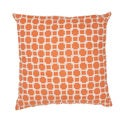 Handmade Orange/ Ivory Cotton (20''x20'') Pillow