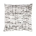 Handmade White/ Gray Cotton 18x18-inch Throw Pillow