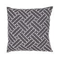 Handmade Charcoal and White Cotton/ Flax 18x18-inch Throw Pillow
