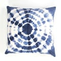 Handmade Blue/ White Cotton 18x18-inch Throw Pillow