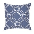 Handmade Blue/ White Cotton/ Flax 18x18-inch Throw Pillow