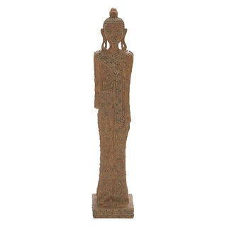 48-inch Standing Buddha Polystone Table-top Sculpture