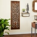Traditonal Ebony Hand-carved Wall Plaque
