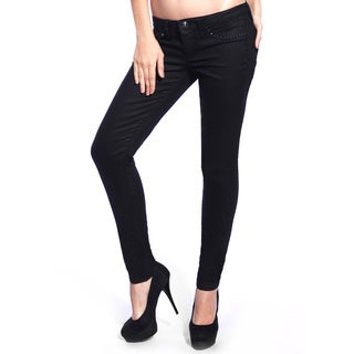 Stitch's Women's Black Denim Skinny Ankle Jeans